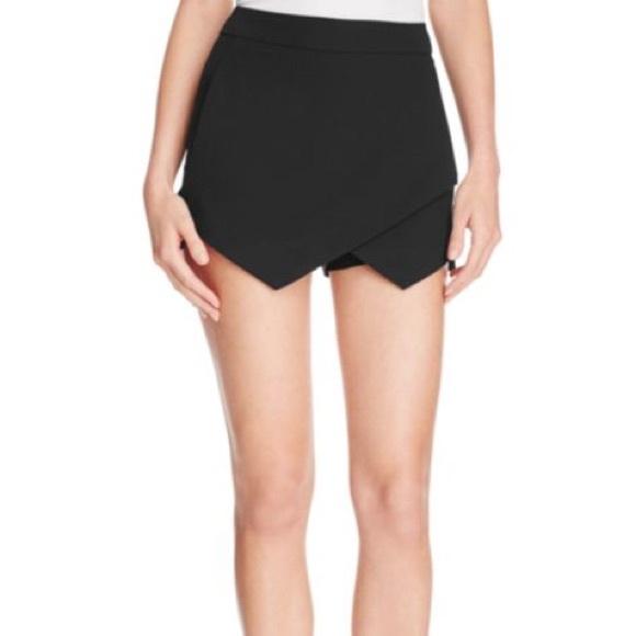 11003f1955 Forever 21 Shorts | Black Envelope Skort | Poshmark